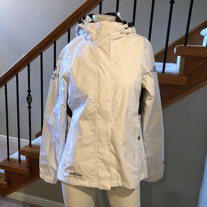 Eddie Bauer Weather Edge Rain Jacket White Size S